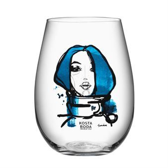 All about you glas 2-pack - miss you (blå) - Kosta Boda