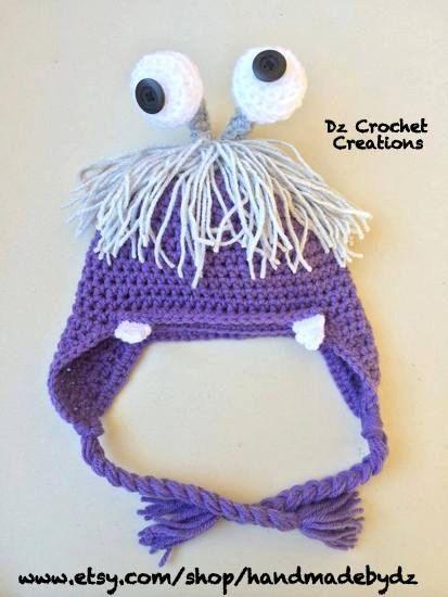Crochet Boo  Crochet Monster beanie  Crochet by HandMadeByDz