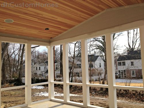 Homewood in kirkwood vaulted porch ceiling pvc framing for Outdoor living kirkwood