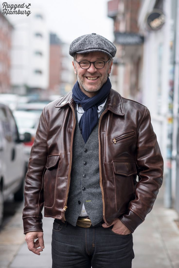 'Not surprised he looks as-happy-as-larry in this get up - it's a good 'un. But 'can't help saying - and I know it's being picky - but the leather jacket's just a bit too new and shiny...