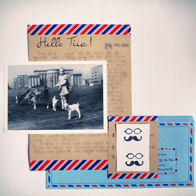 Vintage postal letter to Finland :)