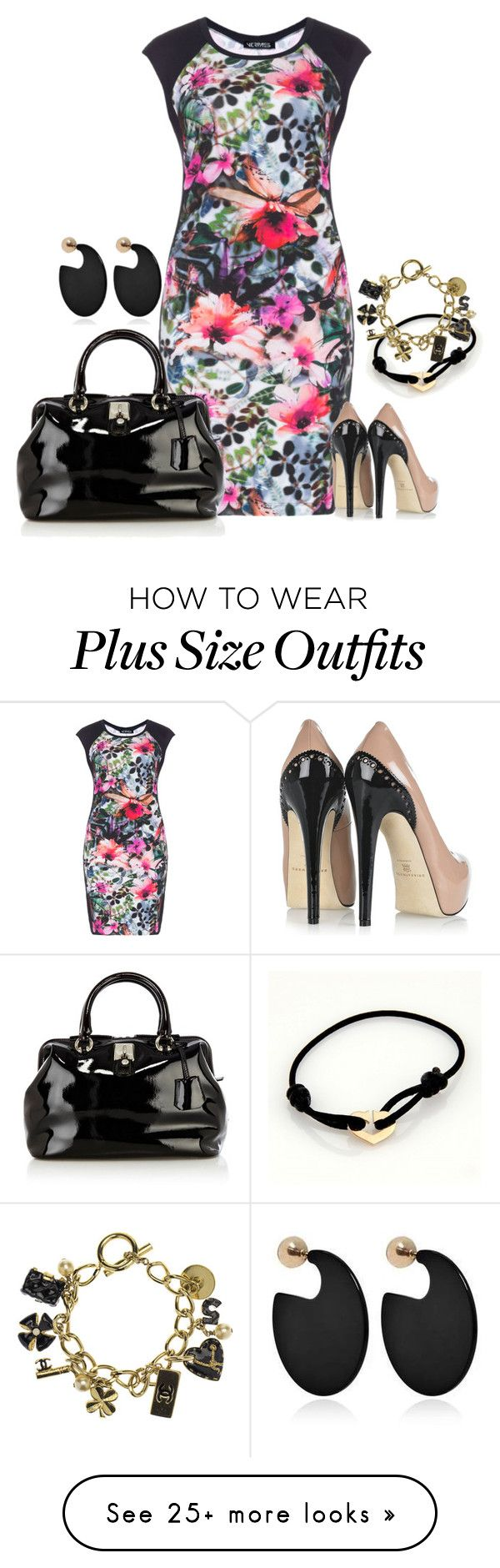 """Plus"" by kneesaasmom on Polyvore featuring Verpass, Brian Atwood, Karen Millen, Marni, Cartier and Chanel"