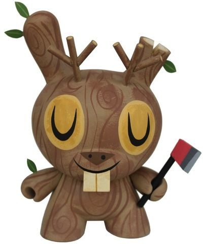 """'Wood Jackalope' by Amanda Visell. Custom 8"""" Dunny is an edition of 10 & available in her store now: http://www.myswitcheroo.com"""