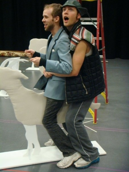 Nick Lang and Joe Walker riding a mammal? They're just adorable!!!!: Totally Awesome, Mammals, Faces, Best Friends, Potter Starkid, Outfit, Boys, Pictures, Goats Props