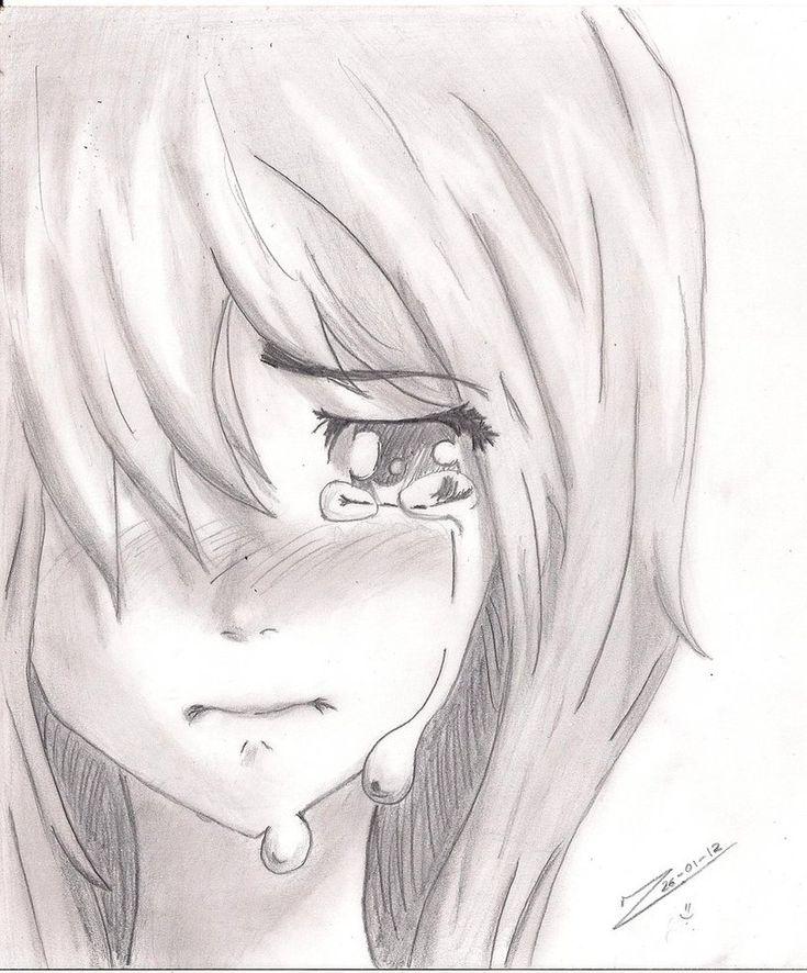 Anime Girl Crying Drawing | crying girl by JuKanjo ...