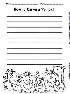 How To Carve a Pumpkin Writing Activity   The Creative Classroom     Halloween Writing Frames on blank paper pumpkin