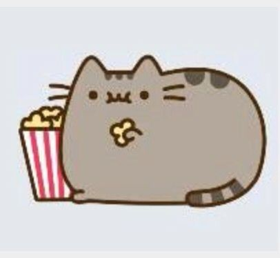 how to draw pusheen cat eating pizza