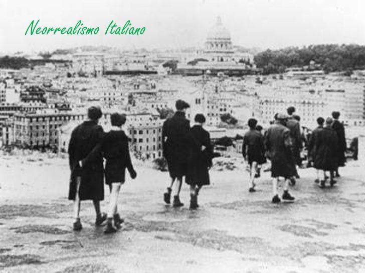 El neorrealismo italiano fue un movimiento cultural, nacido y desarrollado en Italia durante la Segunda Guerra Mundial y la posguerra, que tuvo importantes influencias en el cine contemporáneo.