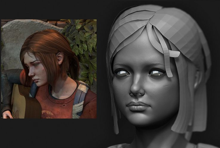 The mindset behind modeling hair with planes - Polycount Forum