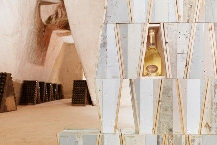 Piet Hein Eek for Ruinart CHAMPAGNE Blanc de Blanc imperfect ecological boxes