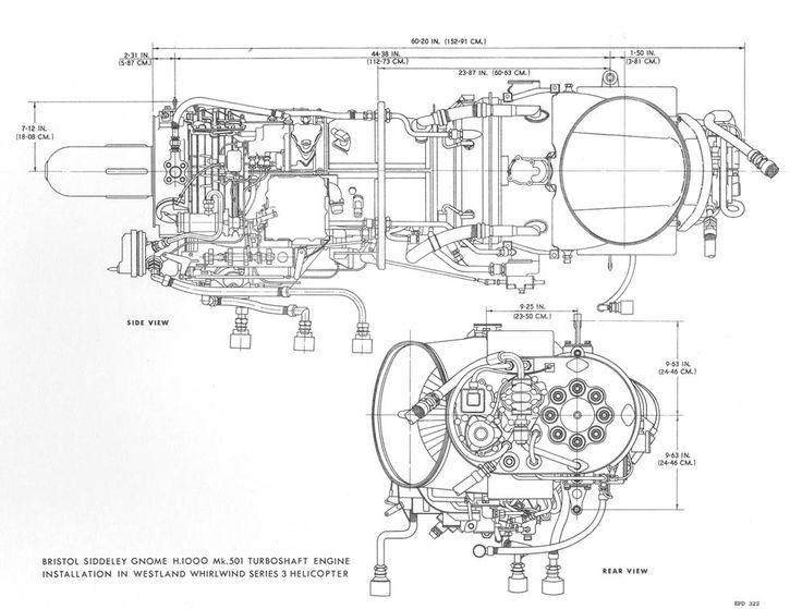 gas turbine drawing
