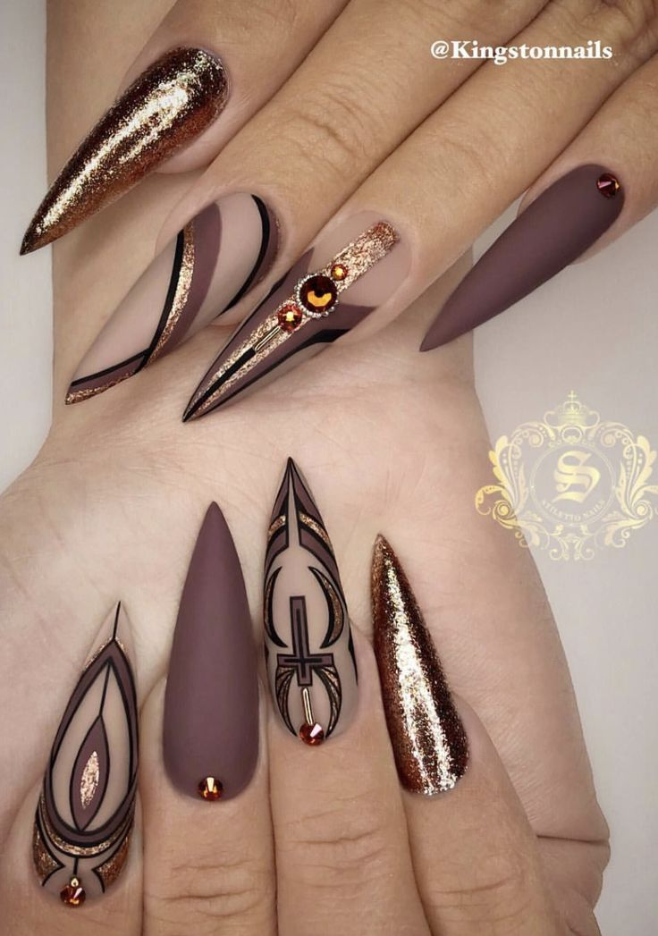Brown stiletto nails – Nails