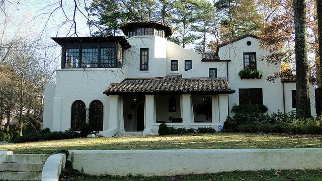 Spanish mission style home homewood alabama home for Mission homes