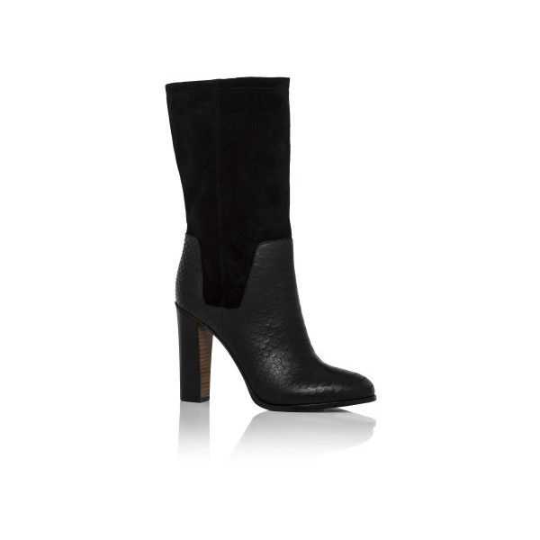 Vince Dalton Rt Slouch Mid Boot ($165) ❤ liked on Polyvore featuring shoes, boots, 5246-410140, black, mid-calf boots, mid calf leather boots, black boots, slouchy mid calf boots, leather boots and mid calf slouch boots