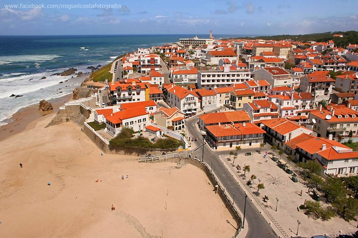 Aerial view taken from my paraglider of my small and beautiful hometown, San Pedro de Moel (Portugal).