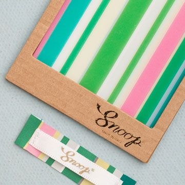 label and hangtag with stripes