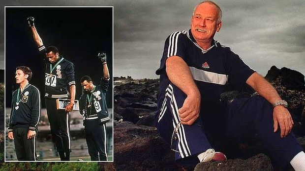 Peter Norman, The hero too many of us still don't know... and, inset, receiving his medal in 1968 in Mexico.