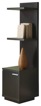 Monarch Specialties 2529 Hollow-Core Audio and Display Tower in Cappuccino traditional-media-cabinets