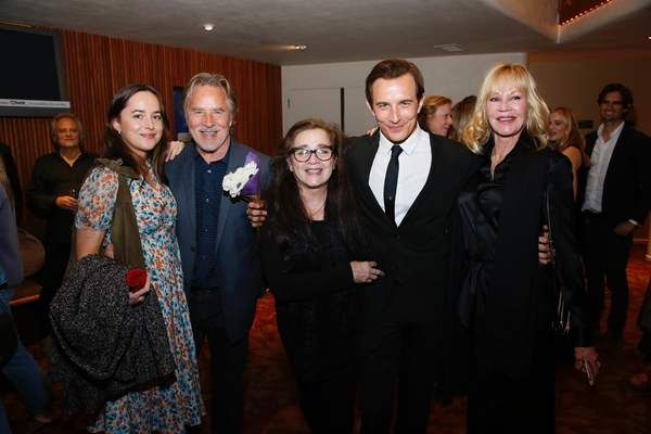 Photo Flash: Hollywood celebrities and Jesse Johnson's (Roger Miller) family congratulating him on a stellar performance include Dakota Johnson, dad Don Johnson, mom Patti D'Arbanville, Jesse Johnson and Melanie Griffith. Celebrate KING OF THE ROAD: THE ROGER MILLER STORY Opening at Laguna Playhouse