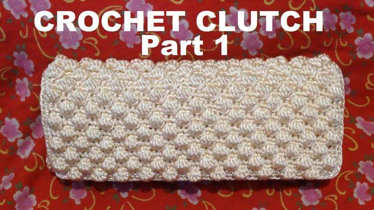 How to crochet Cream Clutch Purse Part1- Hướng dẫn móc ví cầm tay P1