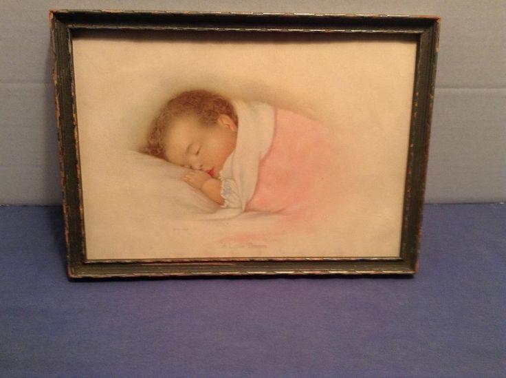 Antique or Vintage Picture/Print, Baby,  A Little Dream  1932, 10.5  x 7.5