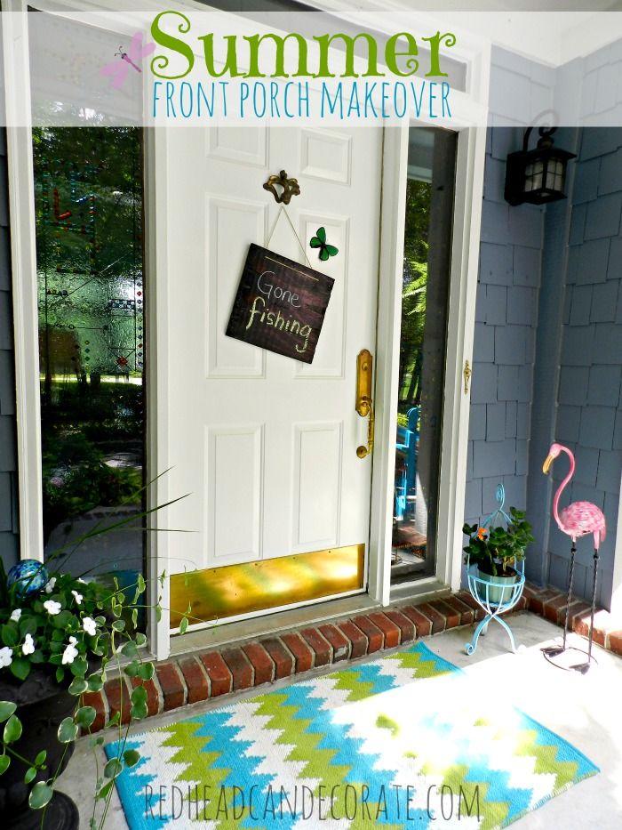 Summer Front Porch Makeover Porch Makeover Summer Porch
