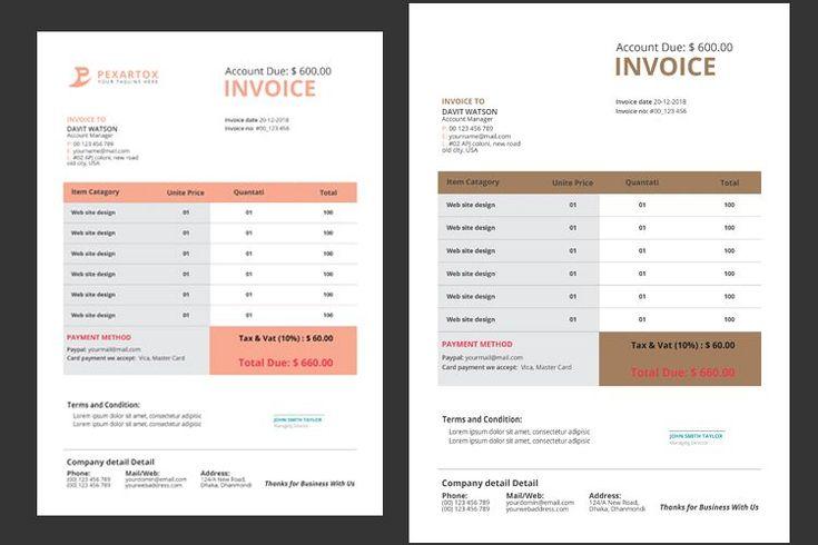 Corporate invoice 289664 resume templates design