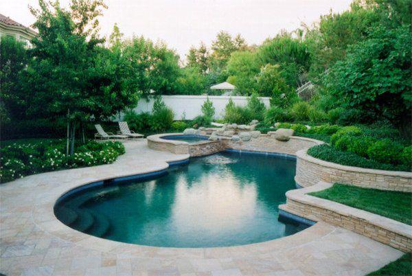 20 Breathtaking Ideas For A Swimming Pool Garden Home Design Lover Garden Pool Design Backyard Landscaping Designs Patio Landscape Design