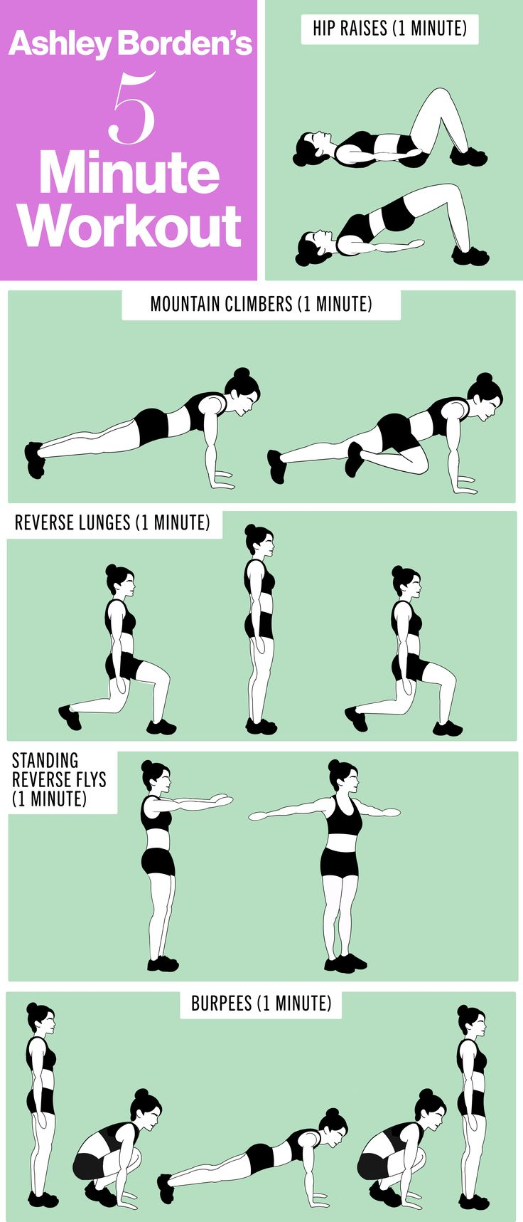Steal these quick workout moves the next time you're short on time, or combine a few to make a slightly longer session.