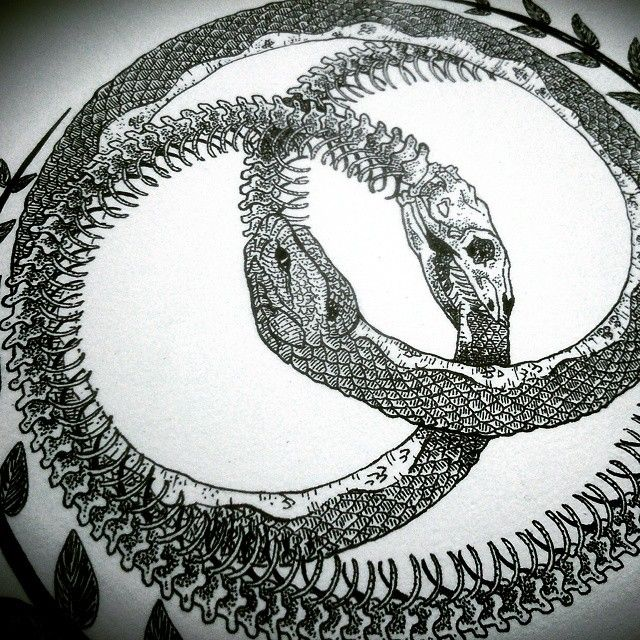 1000 images about ouroboros on pinterest a snake a for Snake eating itself tattoo