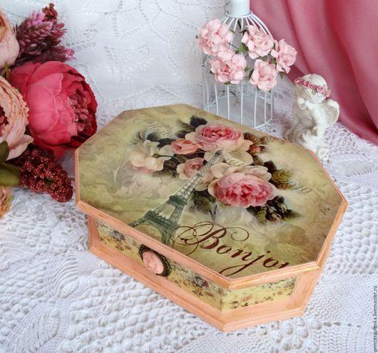 Шкатулки ручной работы. Ярмарка Мастеров - ручная работа. Купить «Розы Парижа» Шкатулка для украшений,, рукоделия, винтаж. Handmade. Винтаж