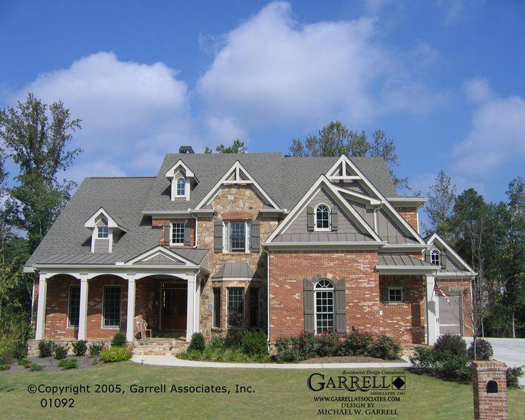 Garrell associates inc beaumoore house plan 01092 for Brick elevation design