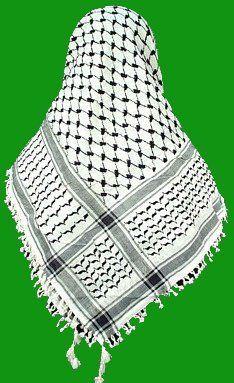Authentic - New Arab - Yasser Arafat Palestinian - Shemagh - Keffiyeh Scarf by VAIFLEX, http://www.amazon.co.uk/dp/7234643001/ref=cm_sw_r_pi_awd_BQuetb0VNF310