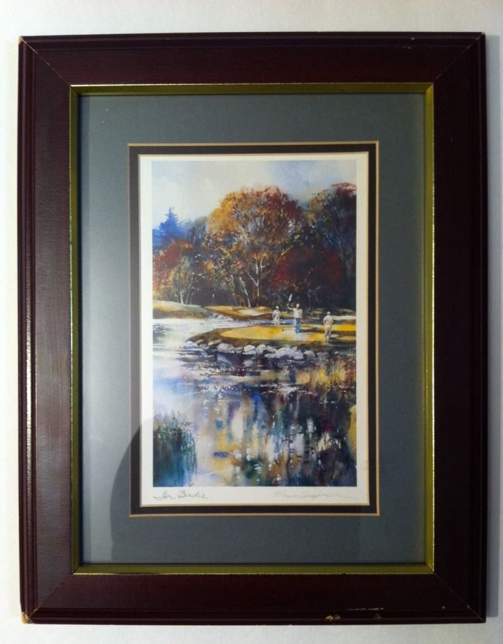 Canadian Brent Heighton Framed Signed Golf Watercolor ...