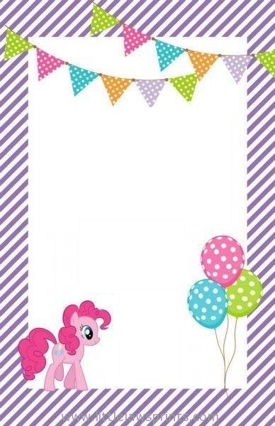 convite  my little pony para imprimir