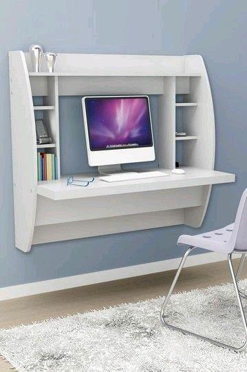 Moderno y elegante escritorio de estudio. Perfecto para espacios reducidos