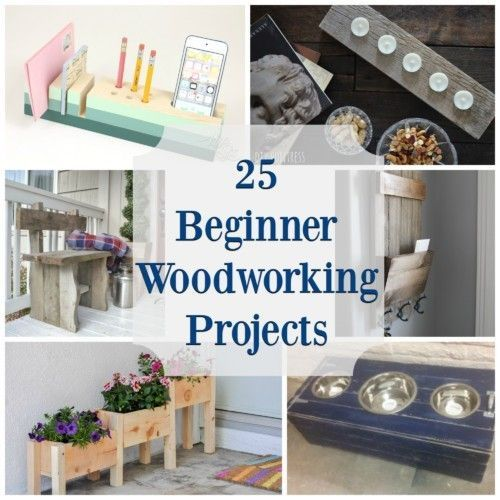 25 Beginner Woodworking Projects - The Created Home