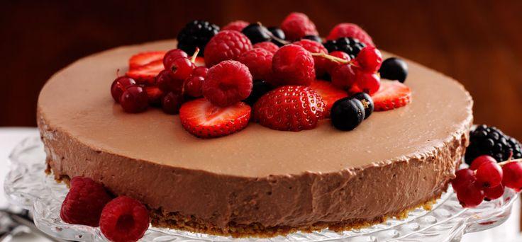 Philadelphia Choklad- och bärcheesecake