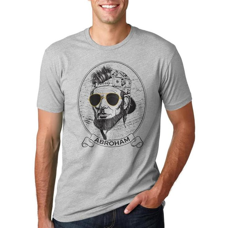 Abroham Lincoln United States President Political T shirt for Men