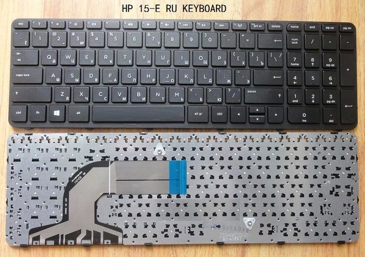 Brand New Russian keyboard for HP Pavilion 15 15T 15-N 15-E 15-15 E000-15 15T-E000 15T-N100 with frame black Laptop keyboard