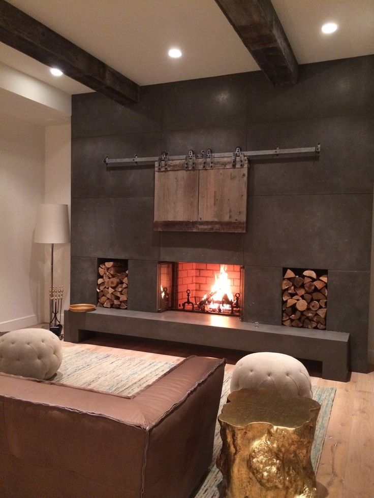 Gorgeous Fireplace Tiles Modern Image Decor in Spaces Contemporary design ideas…