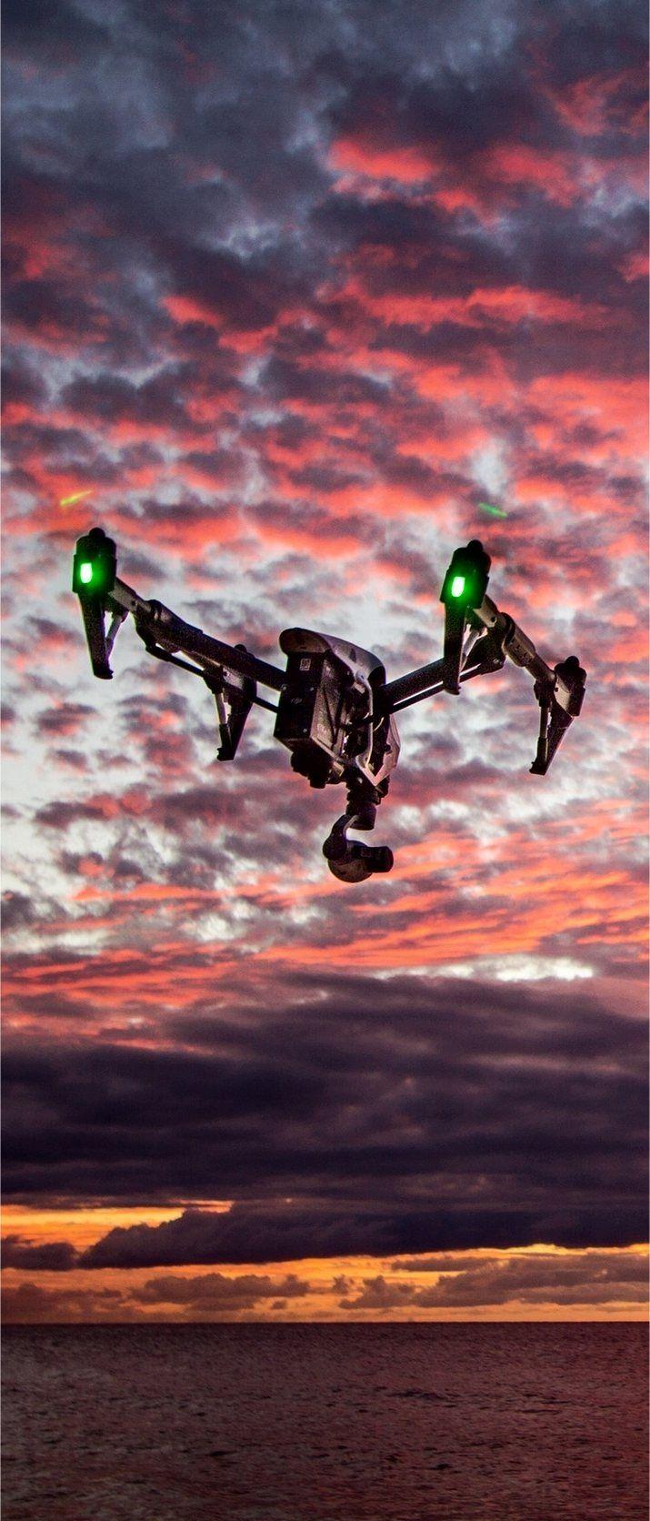 Camera drone for aerial photography at sunset http://dronesuavuas.com…