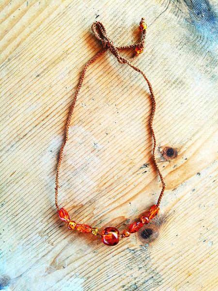 Collane lunghe - Collana boho con ambra - un prodotto unico di Valeria-Draws su DaWanda