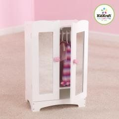 The Kidkraft Lil Doll Armoire Accommodates Dolls Up To Tall. Designed To  Match Our Other Popular Kidkraft Lil Doll Items, This Armoire Is Crafted  From Wood, ...