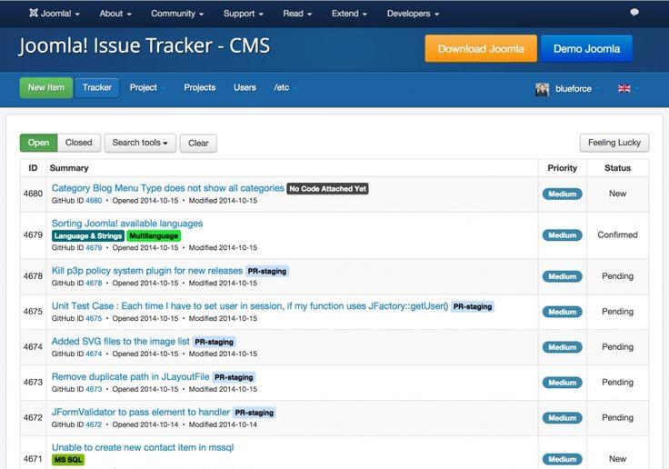 Der neue Joomla! Issue-Tracker