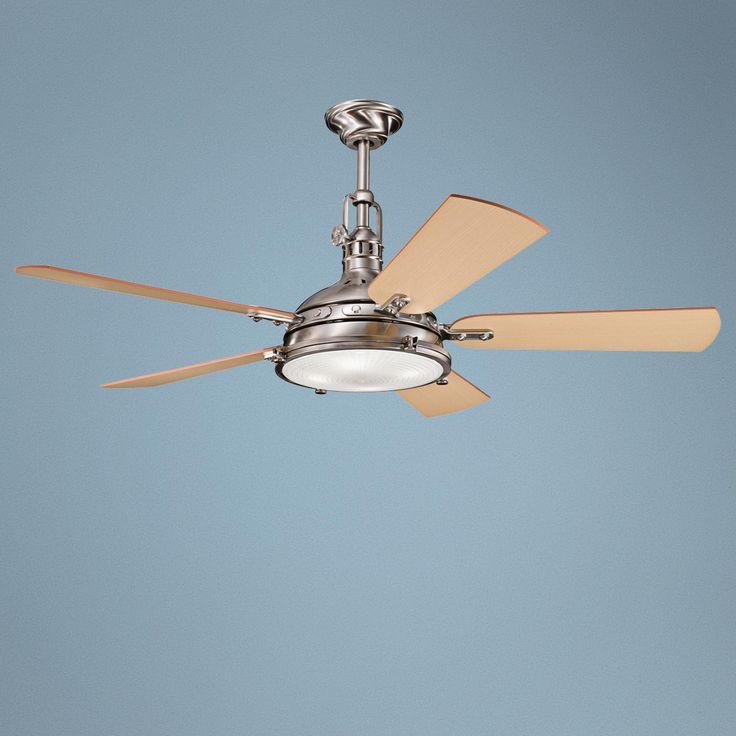 "56"" Kichler Hatteras Bay Brushed Stainless Steel Ceiling Fan -"