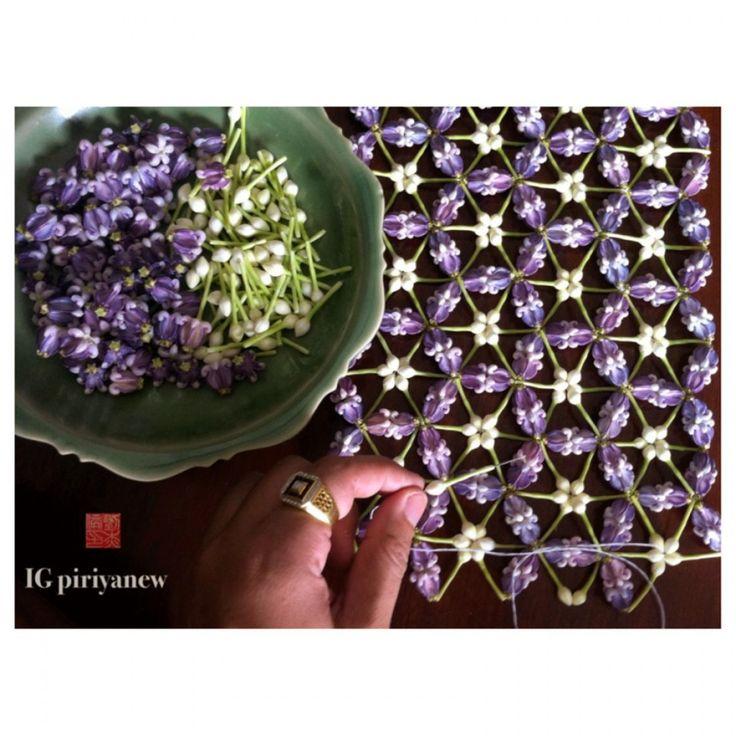 Piriya flower กรองมาลย์ด้วยมานกรอง