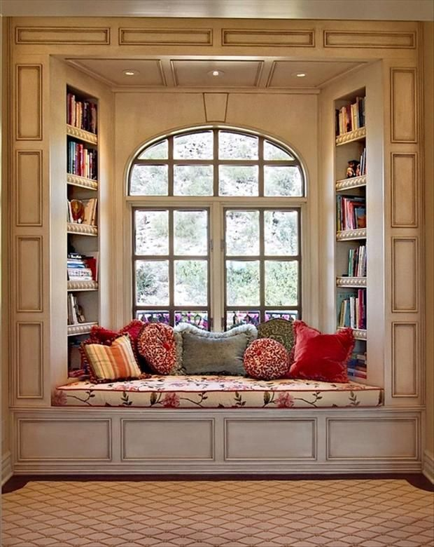 I want a window seat with bookshelves