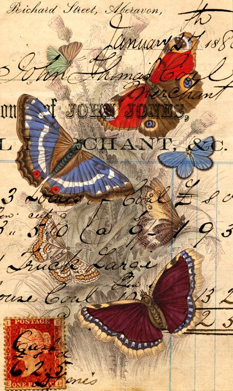 Butterfly Post by Finchley Paper Arts Ltd. #gelaskins
