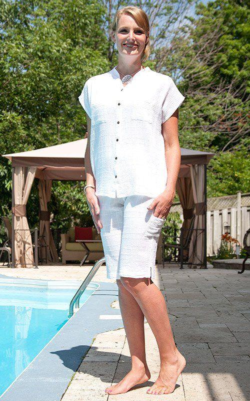 Dotty Gauze Cotton Jackie Shorts